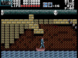 In-game screen of the game Master of Darkness on Sega Master System