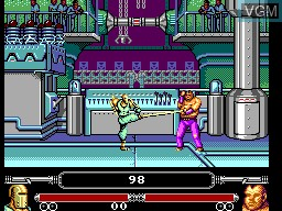 In-game screen of the game Masters of Combat on Sega Master System