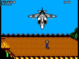 In-game screen of the game Mercs on Sega Master System