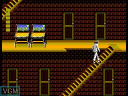 In-game screen of the game Michael Jackson's Moonwalker on Sega Master System