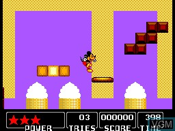 In-game screen of the game Castle of Illusion Starring Mickey Mouse on Sega Master System