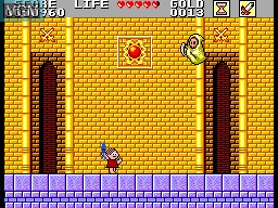 In-game screen of the game Monica no Castelo do Dragao on Sega Master System