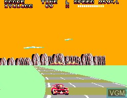 In-game screen of the game OutRun 3D on Sega Master System