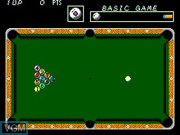 In-game screen of the game Parlour Games on Sega Master System