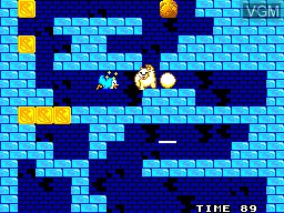 In-game screen of the game Penguin Land on Sega Master System