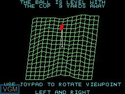 In-game screen of the game PGA Tour Golf on Sega Master System