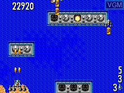 In-game screen of the game Power Strike 2 on Sega Master System