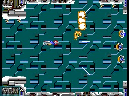 In-game screen of the game R-Type on Sega Master System