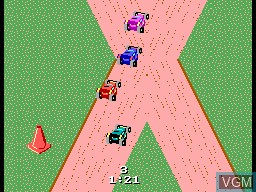 In-game screen of the game R.C. Grand Prix on Sega Master System