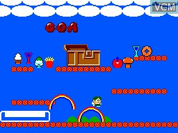In-game screen of the game Rainbow Islands on Sega Master System