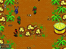 In-game screen of the game Rambo - First Blood Part 2 on Sega Master System