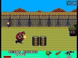 In-game screen of the game Rambo III on Sega Master System