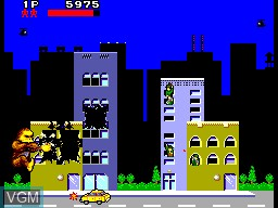 In-game screen of the game Rampage on Sega Master System