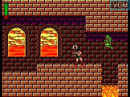 In-game screen of the game Rastan on Sega Master System