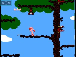 In-game screen of the game Ren & Stimpy - Quest for the Shaven Yak, The on Sega Master System