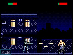 In-game screen of the game Robocop versus The Terminator on Sega Master System