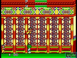 In-game screen of the game Sapo Xule O Mestre do Kung Fu on Sega Master System