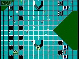 In-game screen of the game Sapo Xule SOS Lagoa Poluida on Sega Master System