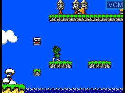In-game screen of the game Sapo Xule vs. os Invasores do Brejo on Sega Master System