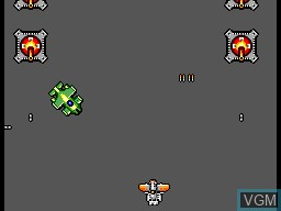 In-game screen of the game Scramble Spirits on Sega Master System