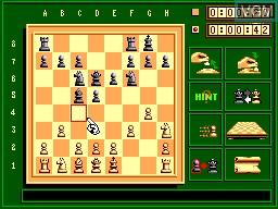 In-game screen of the game Sega Chess on Sega Master System