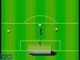 In-game screen of the game Sensible Soccer on Sega Master System