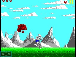 In-game screen of the game Shadow of the Beast on Sega Master System