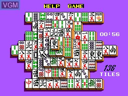 In-game screen of the game Shanghai on Sega Master System