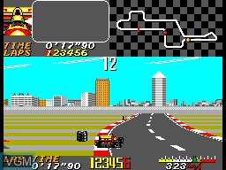 In-game screen of the game Ayrton Senna's Super Monaco GP II on Sega Master System