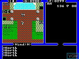 In-game screen of the game Ultima IV - Quest of the Avatar on Sega Master System