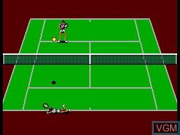 In-game screen of the game Wimbledon II on Sega Master System