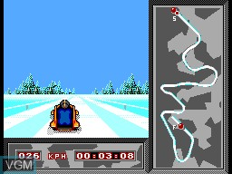 In-game screen of the game Winter Olympics '94 on Sega Master System