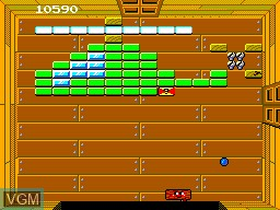 In-game screen of the game Woody Pop on Sega Master System