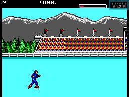 In-game screen of the game World Games on Sega Master System