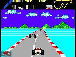 In-game screen of the game World Grand Prix on Sega Master System