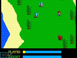 In-game screen of the game Ys - The Vanished Omens on Sega Master System