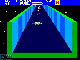 In-game screen of the game Zaxxon 3D on Sega Master System