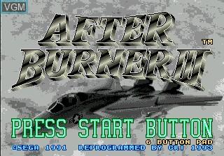 Title screen of the game After Burner III on Sega Mega CD