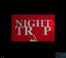 Title screen of the game Night Trap on Sega Mega CD