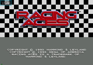 Title screen of the game Racing Aces on Sega Mega CD