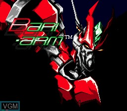 Title screen of the game Android Assault - Revenge of Bari-Arm on Sega Mega CD