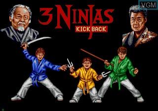 Title screen of the game 3 Ninjas Kick Back on Sega Mega CD