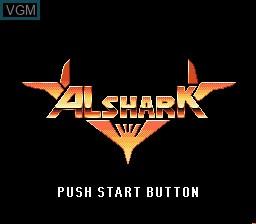 Title screen of the game Alshark on Sega Mega CD