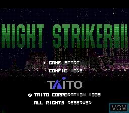 Title screen of the game Night Striker on Sega Mega CD