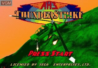 Title screen of the game AH-3 Thunderstrike on Sega Mega CD