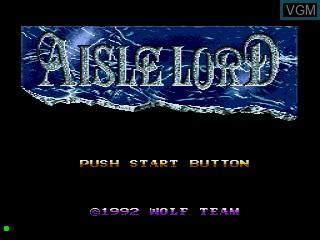 Title screen of the game Aisle Lord on Sega Mega CD