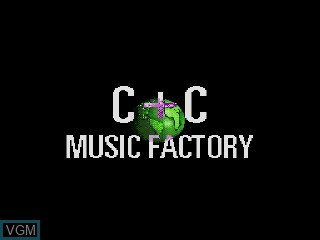 Title screen of the game Power Factory Featuring C+C Music Factory on Sega Mega CD