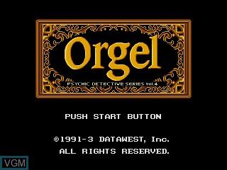 Title screen of the game Psychic Detective Series Vol. 4 - Orgel on Sega Mega CD