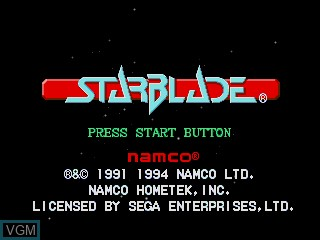 Title screen of the game Starblade on Sega Mega CD