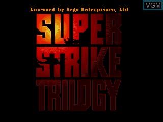 Title screen of the game Super Strike Trilogy on Sega Mega CD